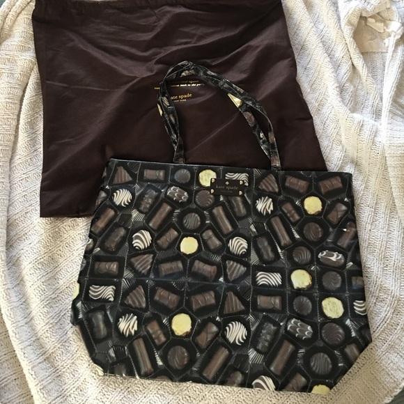 74888e234144 kate spade Handbags - kate spade Bon Shopper Tote in Chocolate Bon Bon