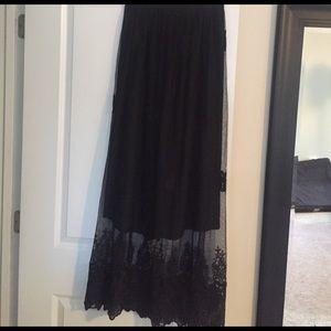Lace overlay Maxi skirt