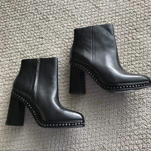 b659bdc9453 Coach- Justina Black Leather Booties NWT
