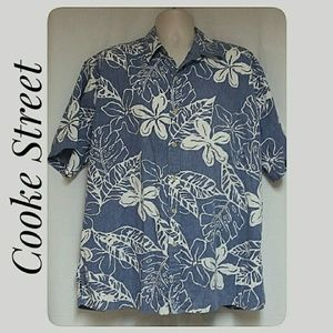 Cooke Street Shirts - Mens Cooke Street Reverse Print Hawaiian Shirt 2XL