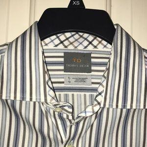 Thomas Dean Other - 💲⬇️💙THOMAS DEAN💙Striped Long sleeve Dress Shirt