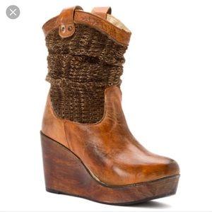 bed stu bed stu cobbler series rustic wooden wedge shoes
