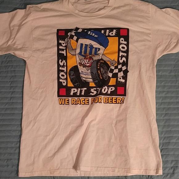 Vintage Vintage Miller Lite Race For Beer T Shirt Xl