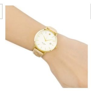 NEW! Kate Spade Metro Grand Quilted Watch