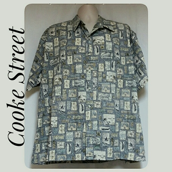 Cooke Street Other - *HP*Mens Cooke Street Hawaiian Shirt Reverse Print