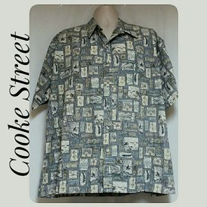 *HP*Mens Cooke Street Hawaiian Shirt Reverse Print