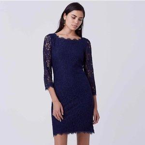 Diane von Furstenberg Dresses & Skirts - DVF Navy lace dress