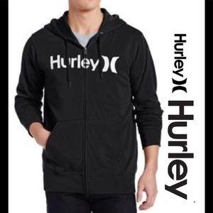 Hurley Other - Hurley black hooded zip up sweater men's medium