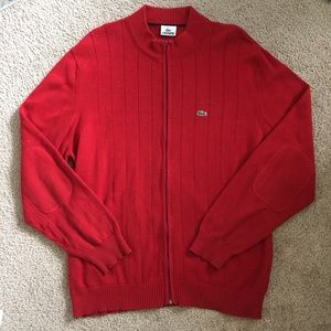 Lacoste Other - Men's Red Lacoste Full Zip Sweater