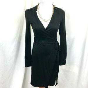 Banana Republic Dresses & Skirts - XS Banana Republic Black Wrap Dress Long Sleeve