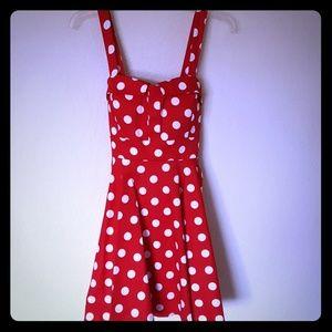Dresses & Skirts - Red & White Polka Dot Dress