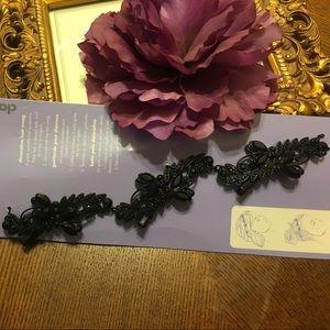 🍰 Black rhinestones hair clips accessories