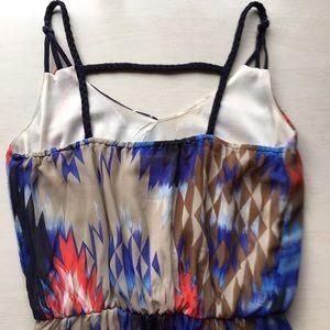 Dresses - Aztec kilim print high low maxi dress XS, 0