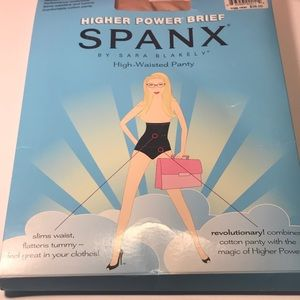 Spanx higher power brief high waisted panty bare