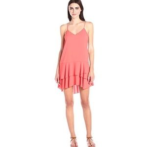 NWT Cooper & Ella Ruffle Dress Coral Medium