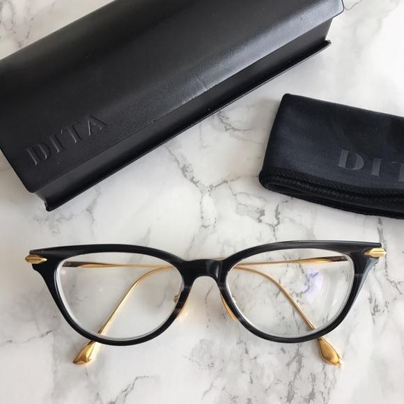 0f5e050164bc DITA Accessories - DITA VIDA Cat Eye Eyeglasses Smoke Crystal Black