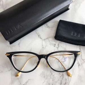 e2c76797c261 DITA Accessories - DITA VIDA Cat Eye Eyeglasses Smoke Crystal Black