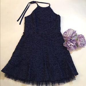 BCBG Dresses & Skirts - BCBG / navy blue dress / tulle underlay