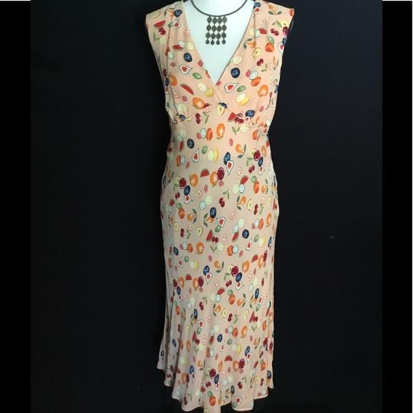 6e37f1dbae9 Diane von Furstenberg Dresses   Skirts - Whimsical Fruit Print Silk Dress