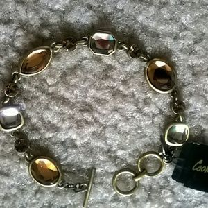 Cookie Lee Jewelry - ??SALE! Bronze Crystal Toggle Bracelet!