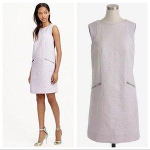 J. Crew Jacquard Zip Pocket Shift Dress