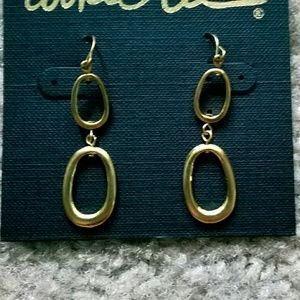Cookie Lee Jewelry - Gold metal dangling earrings