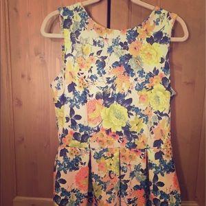 Closet Dresses & Skirts - Closet London Floral Scuba Skater Dress