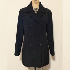 Macy's Jackets & Blazers - Macy's Black Double Breasted Trench Coat