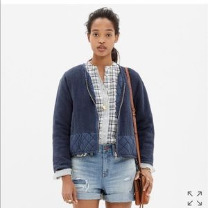 Madewell Quilted Edge Bomber Jacket