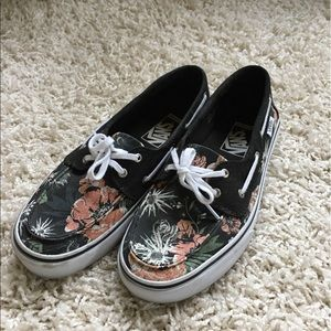 Vans Boat Shoes Desert Print