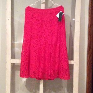 Ashley Blue Dresses & Skirts - Pink Lace Skirt