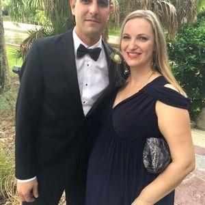 ASOS Maternity Dresses & Skirts - Asos Navy Maternity Black Tie Wear, Size 14.
