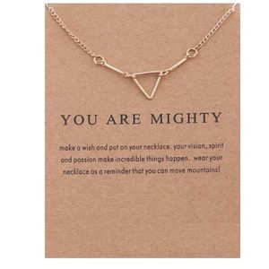 Dogeared Jewelry - You Are Mighty Triangle Necklace