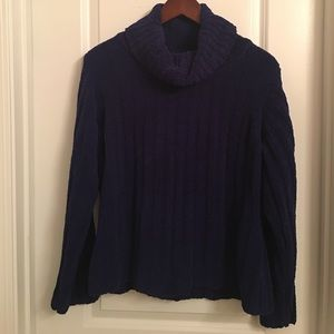 Caroline Bosmans Sweaters - Cowl neck purple sweater