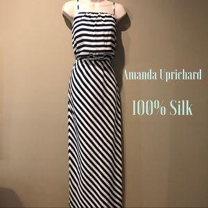 Amanda Uprichard Dresses & Skirts - Amanda Uprichard 100% Silk Stiped Maxi Dress,