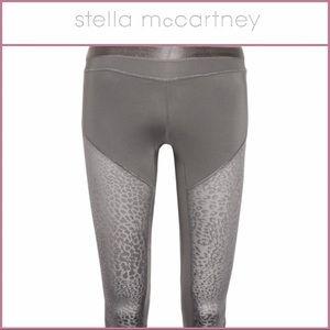 Adidas by Stella McCartney Pants - ADIDAS STELLA MCCARTNEY GRAY LEOPARD SPANDEX CAPRI