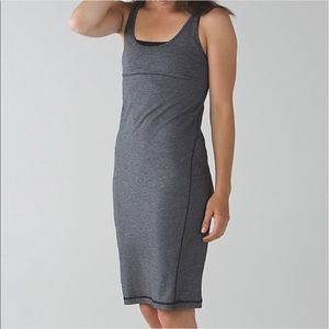 "Lululemon dress ""Go for it"". New with tags  gray"