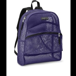 60 off jansport handbags purple and blue plain jansport