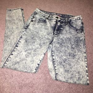 Pants - Acid wash skinny jeggings