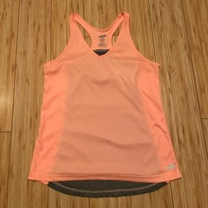 Avia Tops - Salmon and Grey Workout Tank