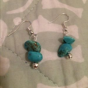 Handmade turquoise stone earrings