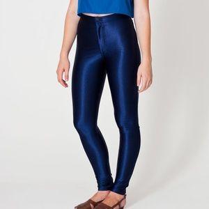 American Apparel Pants - NWT American Apparel Navy Disco Pants