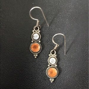 Jewelry - Sterling Opal and White Sapphire Drops