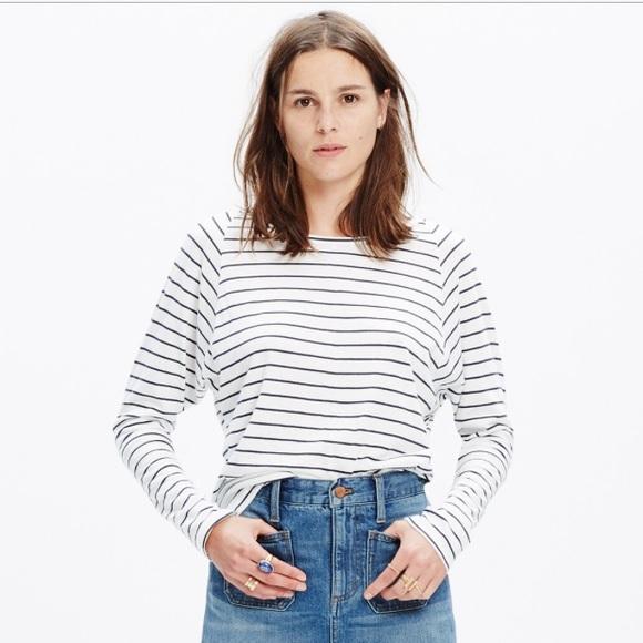 c3eb159240 Madewell Tops | Striped Long Sleeve Tee | Poshmark