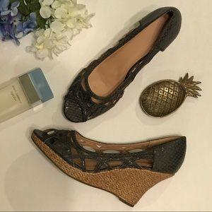 Avon Shoes - Grey Avon mark wedges
