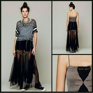 Free people  Dresses & Skirts - Final price! Free people raw tulle dress