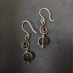 Jewelry - 🎁Sterling and Brass Glass Drops