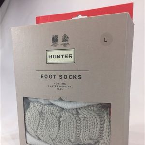Hunter Accessories - hunter cable knit boot socks large