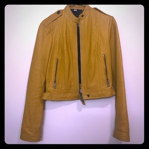 Authentic Burberry Brit leather jacket