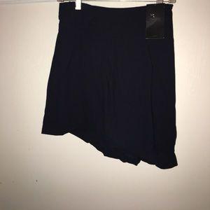 NWT ZARA woman Blue Pleated Skirt with draw string